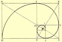 Número Áureo: La espiral logarítmica