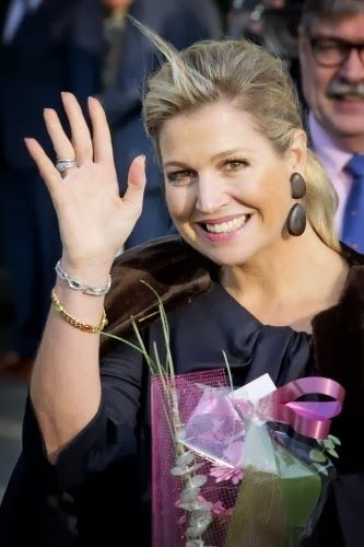Queen Maxima attend the 5th symposium of Qredits, microfinance Netherlands at the Auditorium of the Rabobank in Utrecht