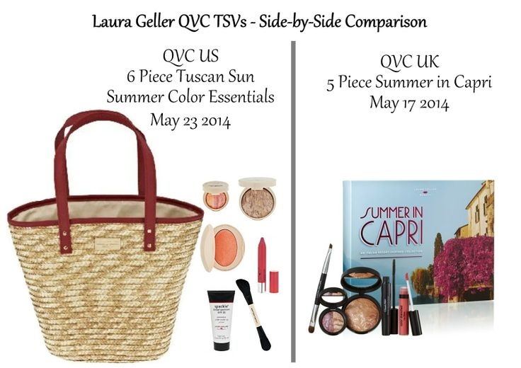 So, within a week of each other, Laura Geller is bringing two Summer-themed TSVs to QVC UK and QVC US, how do they compare?