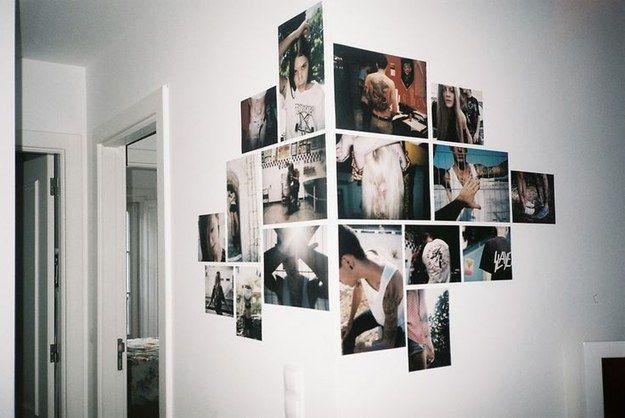 Parede de fotão. | Community Post: 30 formas incríveis de decorar suas paredes sem gastar quase nada