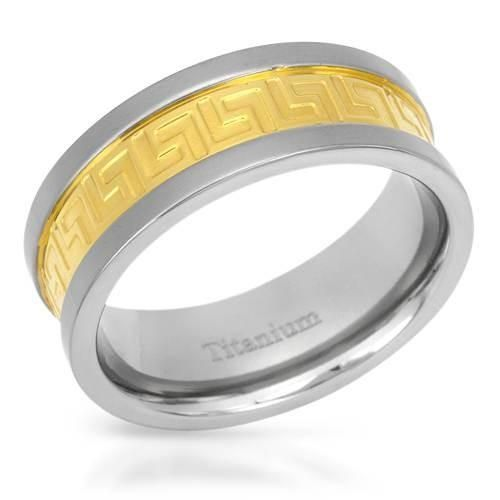 Ring Gold Plated Titanium -Size 12 Size 12. Superb gentlemens band ring well made of 14K gold plated titanium. Total item weight 4.4g.