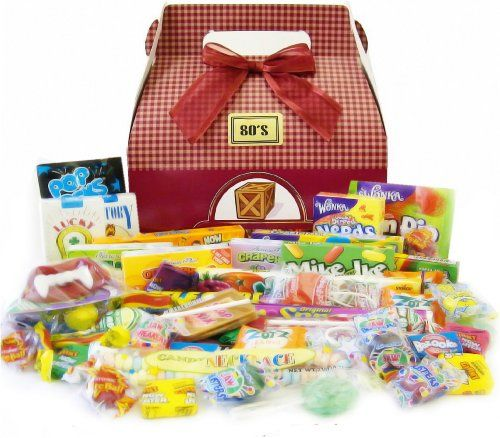 Candy Crate 1980's Retro Candy Gift Boxby Candy Crate http://foodiegiftsnow.com/grocery-gourmet-food/gourmet-gifts/candy-crate-198039s-retro-candy-gift-box-com/