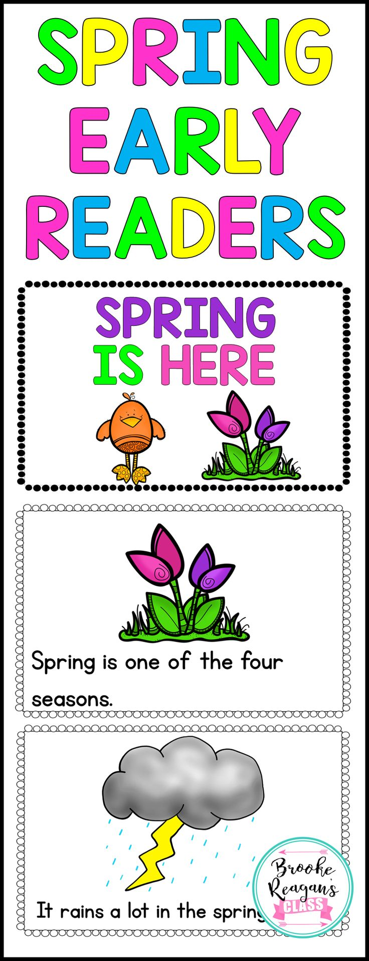 Spring early readers. Great to introduce spring to your readers. Ideal for special education students or early readers!