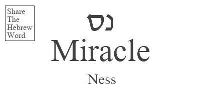 Ness = Miracle in Hebrew
