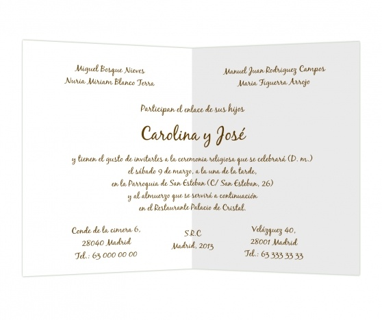 Marrón negruzco #invitaciones #boda