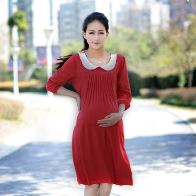 Maternity clothes spring and summer fashion women dress half sleeves #maternityclothes #spring #fashion #trend