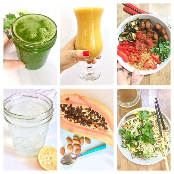 Mettre de la compassion dans son assiette c'est facile  Journée alimentaire vegan et vitaminée chez Marion : - Jus vert full céleri au lever  - Smoothie mangue en petit dèj  - couscous de quinoa aubergines et merguez vegan à midi - Eau citronnée entre les repas - papaye pour le goûter (je croque même quelques grains c'est spicy et trop bon) - Ramens légumes asiatiques salade de coriandre pistaches et bouillon végétal pour le dîner.  Pour des idées quotidiennes vous pouvez me suivre sur…