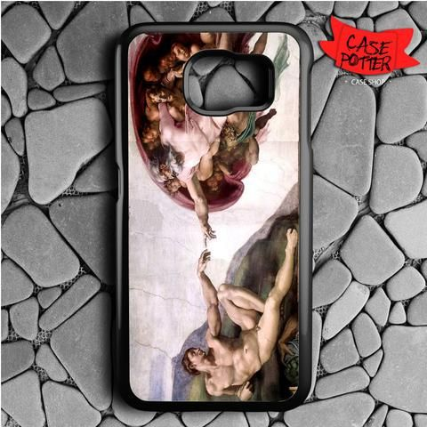 Michelangelo Sistine Chapel Creation Of Adam Samsung Galaxy S7 Black Case
