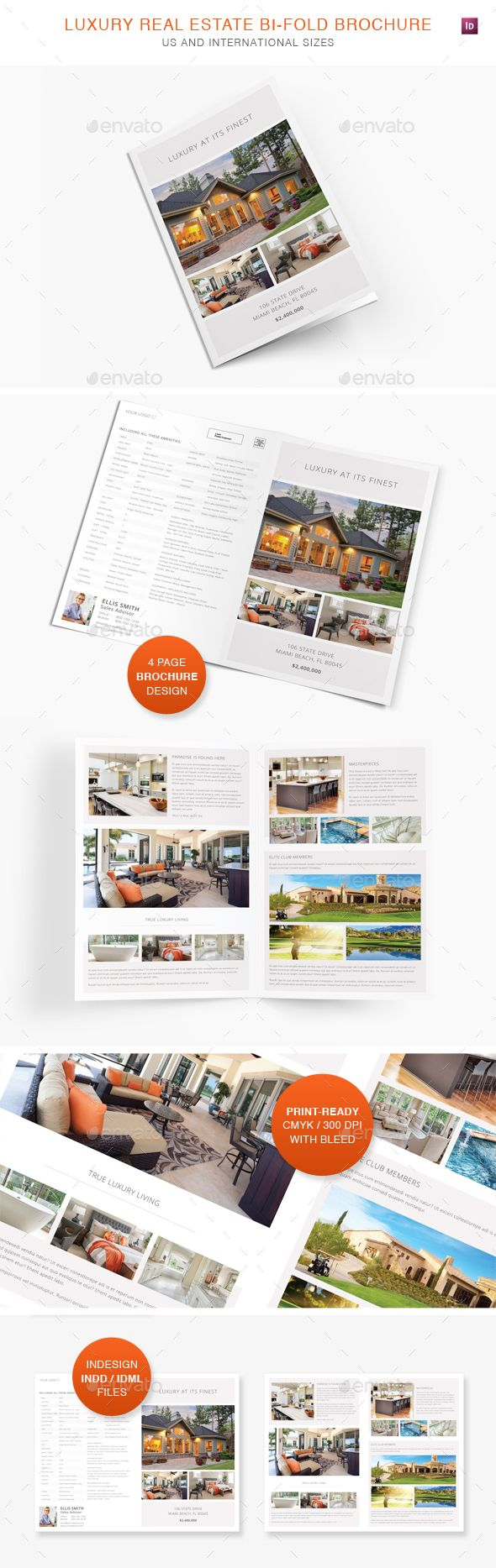 marketing brochures templates - luxury real estate bi fold brochure luxury real estate
