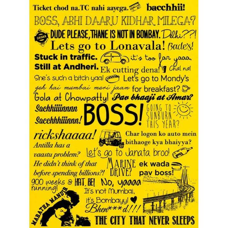 Bombay Mumbai Poster | Buy Posters online | Buy Frames online | thesouledstore.com
