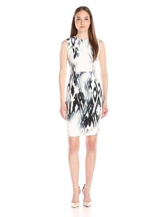 Happy mother's day! Buy the best gift for your lovely mother at the cheapest price ever! Calvin Klein Women's Printed Scuba Sheath