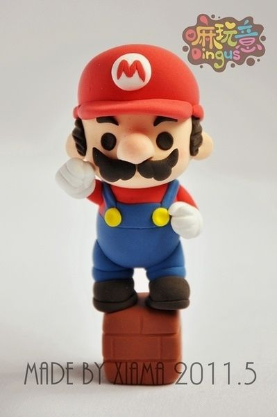 Cutest Polymer clay Mario I've seen so far! Amazing!