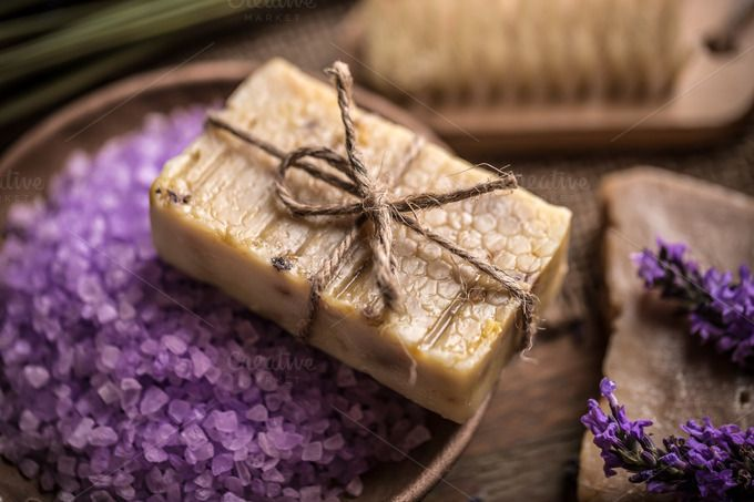 Natural handmade soap by Grafvision photography on @creativemarket