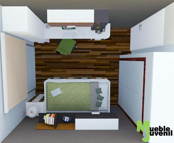 17 best images about dise o 3d habitaciones juveniles on for Disenar dormitorio juvenil 3d