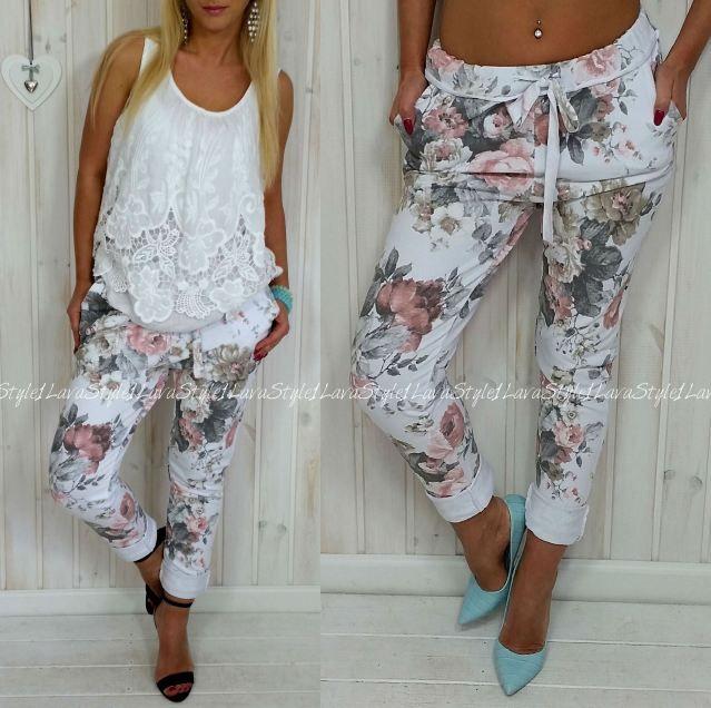 Spodnie W Kwiaty Z Czym Nosic Szukaj W Google Fashion Capri Pants Legging