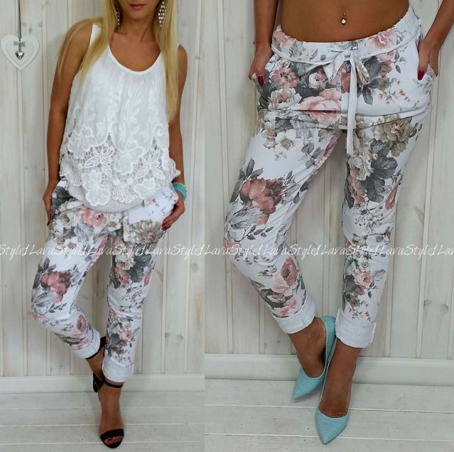 spodnie w kwiaty z czym nosić - Szukaj w Google