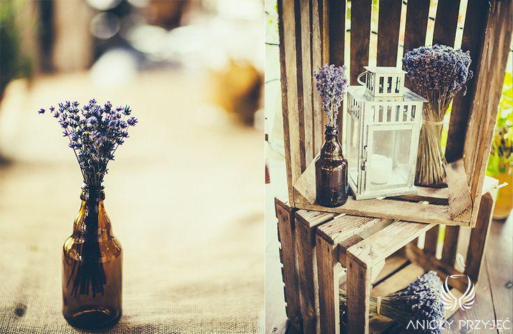 10. Lavender Wedding,Rustic decor / Wesele lawendowe,Rustykalne dekoracje,Anioły Przyjęć