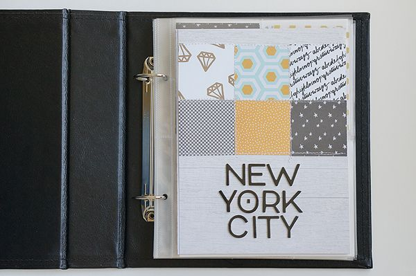 Honeymoon album using On My Desk by paislee press available at gossamer blue