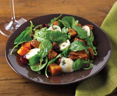Butternut Squash and Bocconcini Salad with Tre Stelle® Bocconcini #salad #bocconcini #healthyrecipe