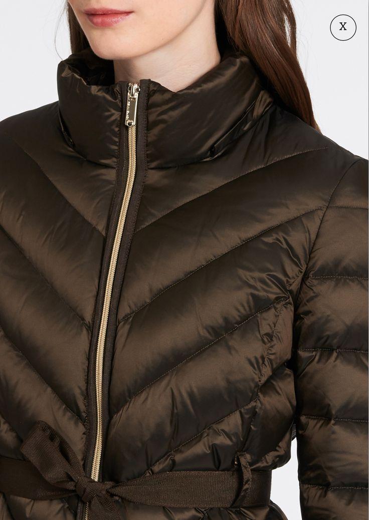 Slim-fit duvet jacket with belt