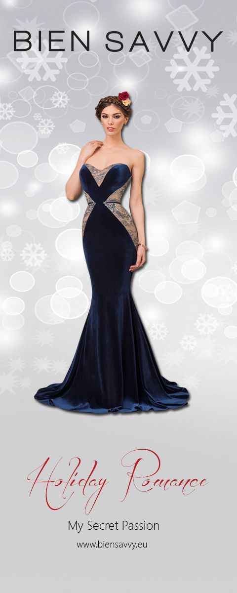 Holiday Dresses 2016: My Secret Passion, velvet mermaid gown, BIEN SAVVY My Secret Collection
