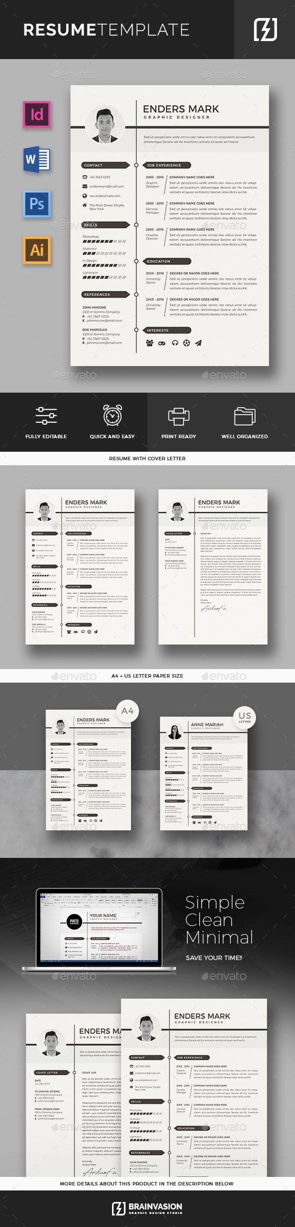 Resume Template Resumes Stationery Download here