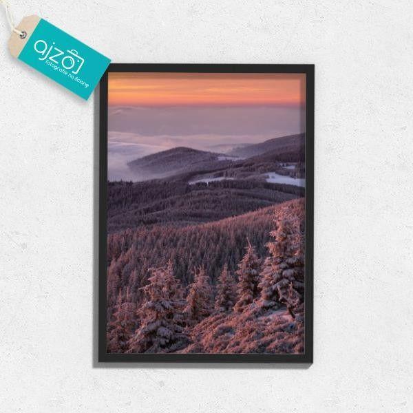 Plakat w ramie Zimowy poranek do pokoju 50x70cm