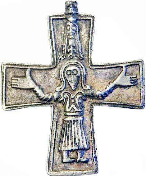 Viking age / Silver Krucifix Gotland replica