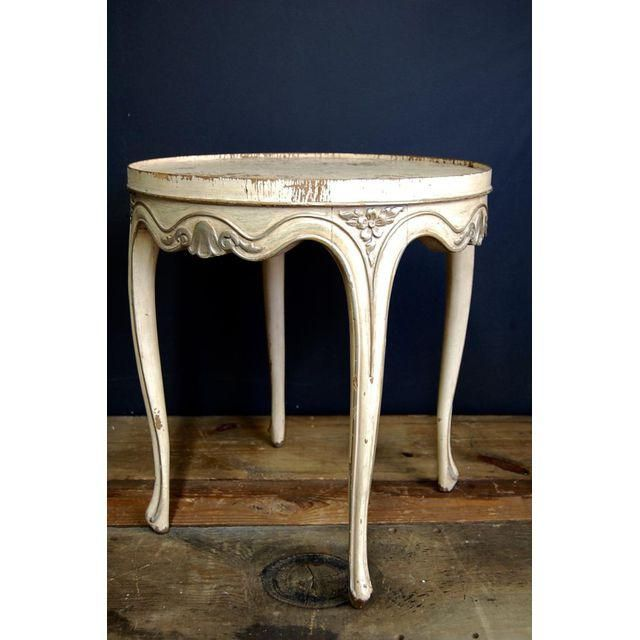antique french ivory u0026 silver side table