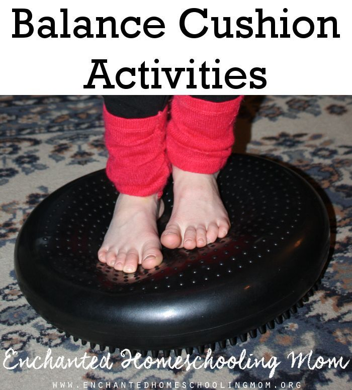 Help develop your child's balance with these gross motor activities using a balance cushion.