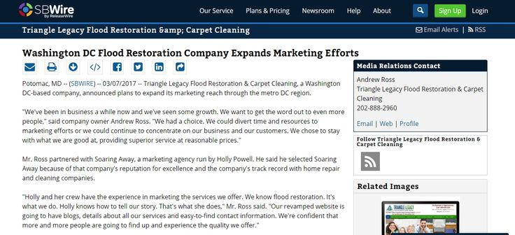 http://www.sbwire.com/press-releases/washington-dc-flood-restoration-company-expands-marketing-efforts-778401.htm - Triangle Legacy Flood Restoration & Carpet Cleaning, a Washington DC-based company, announced plans to expand its marketing reach through the metro DC region.