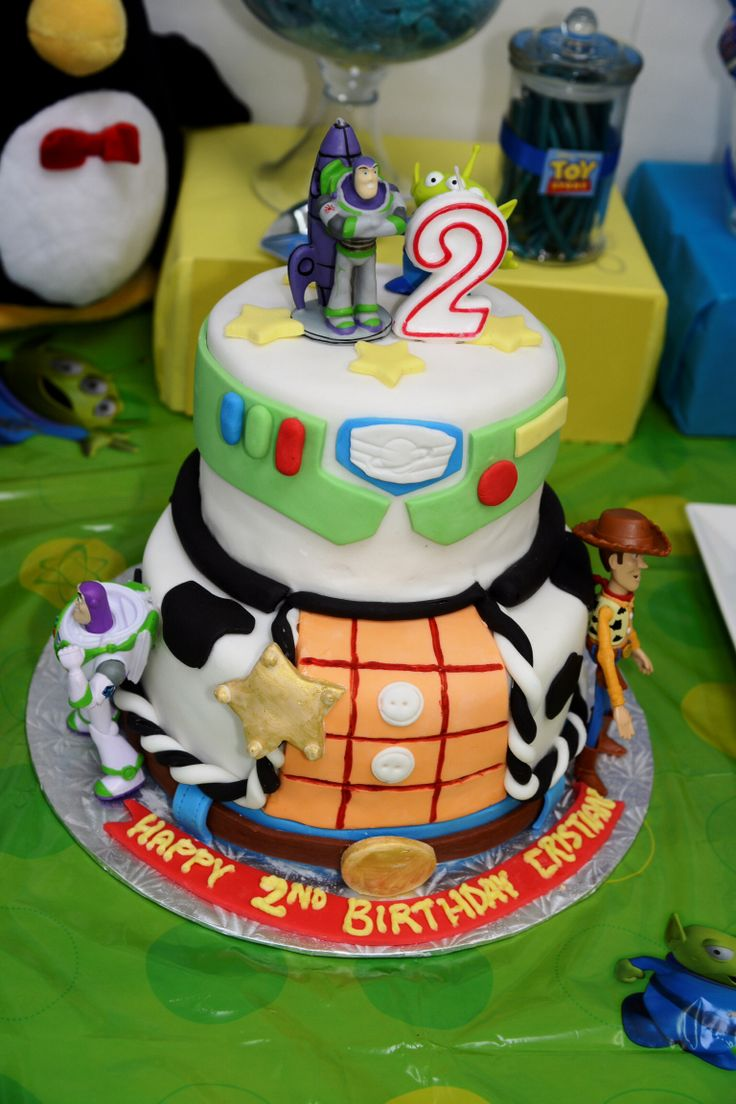 Buzz Woody Theme Cake Toy Story Birthday Super Hero B Day