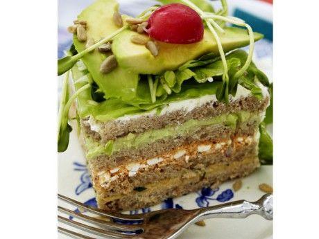 Vegetarisk smörgåstårta