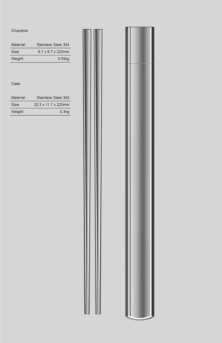 FeC — Stainless Steel Chopsticks on Behance