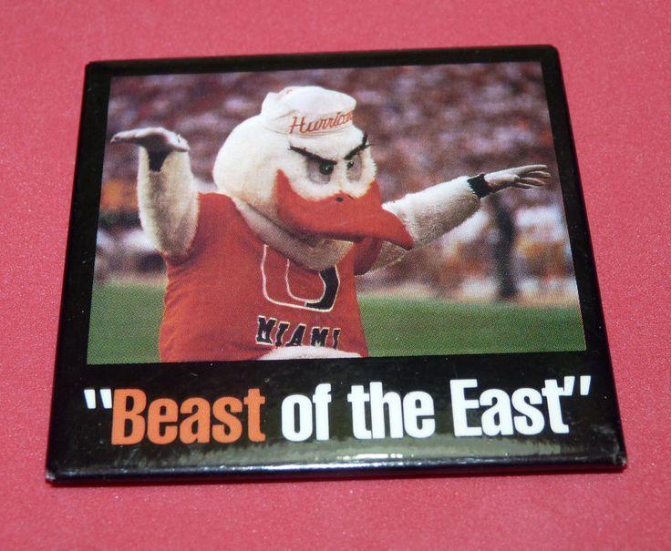 University of Miami Hurricanes Canes Mascot UM Football Pin Coral Gables Florida #UniversityofMiamiHurricanesCanes