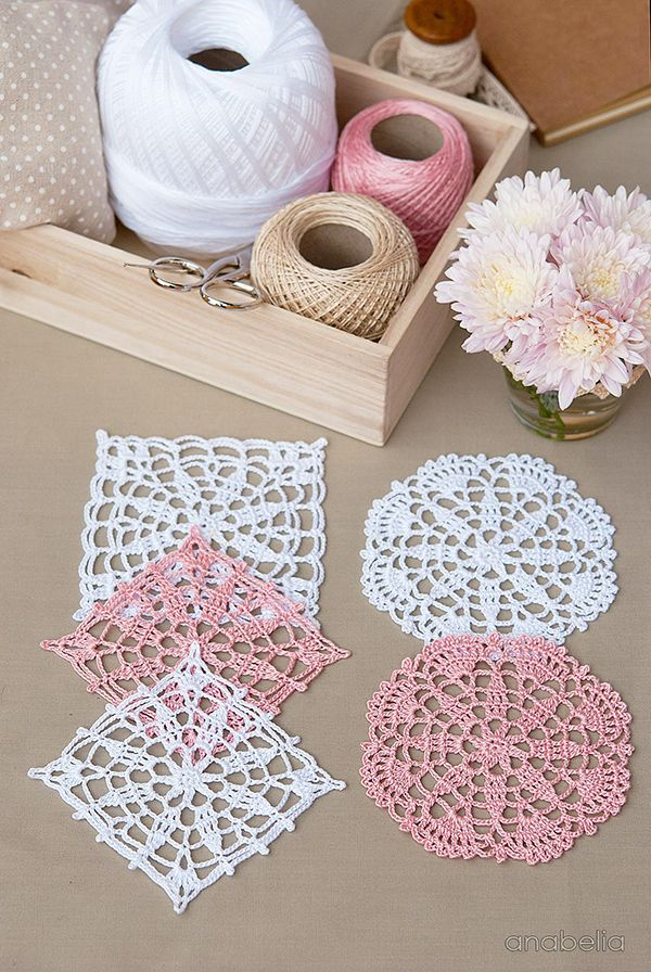 Crochet lace motifs free patterns by Anabelia Craft Design  #anabelia…                                                                                                                                                                                 More