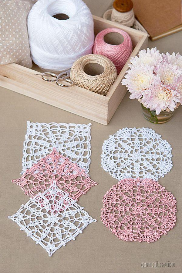 Crochet lace motifs free patterns by Anabelia Craft Design #anabelia�