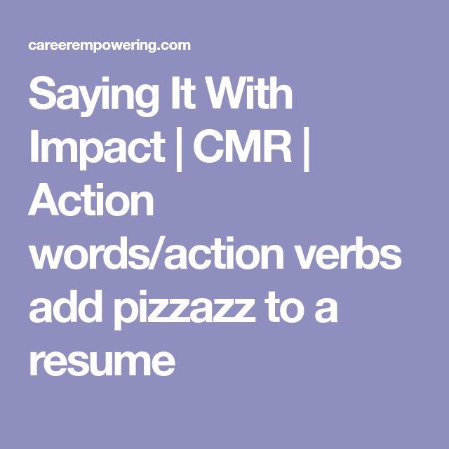 Best 25+ Resume action words ideas on Pinterest Resume key words - active resume words