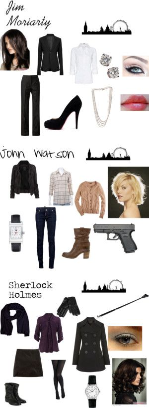 """BBC's Sherlock"" by nchavez113 on Polyvore  Cute! and this reminds me I still need to finish my Disney girl's on Polyvore..."