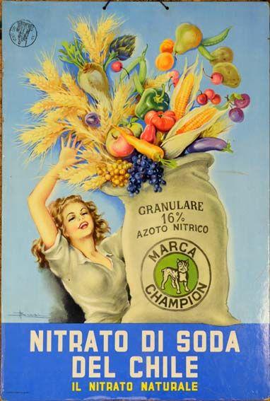 Nitrato di Soda vintage ad from Chile