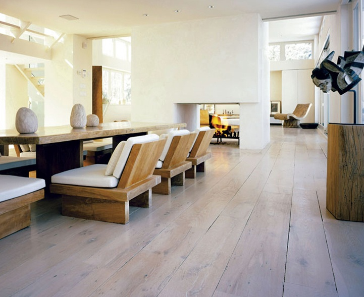 Gorgeous Natural Woods In A Modern Setting. Antique Oak Limed Flooring . Part 73