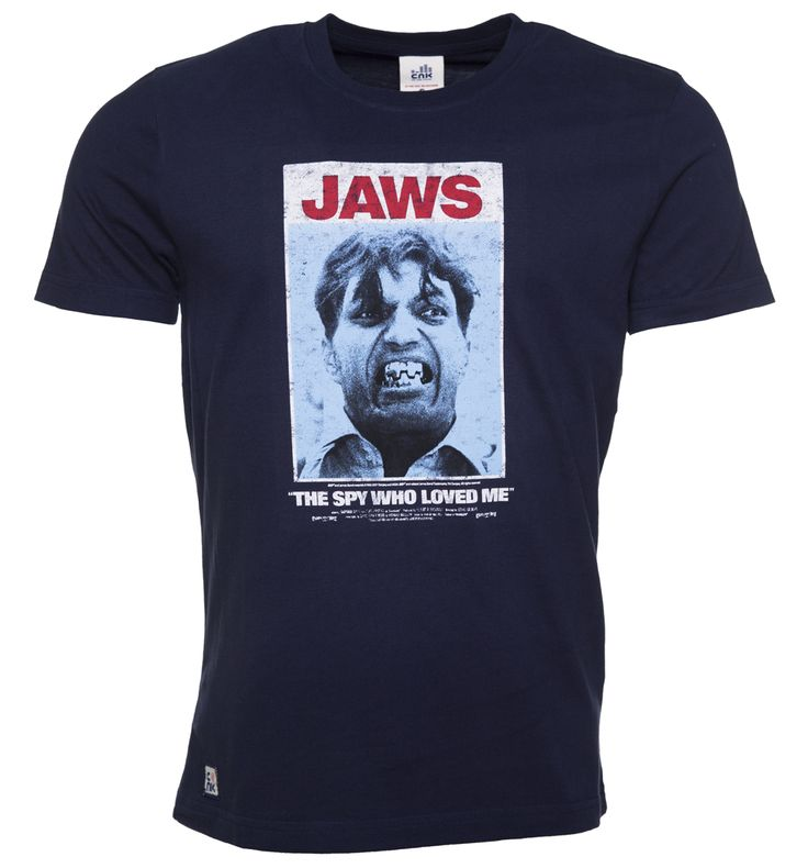 Chunk Mens Navy Jaws James Bond T-Shirt from Chunk Were loving this awesome mash-up Chunk tee, paying homage to the Bond villain, Jaws. A highly skilled killer relying on his brute strength and improvising any situation to quickly dispatch his victims http://www.MightGet.com/may-2017-1/chunk-mens-navy-jaws-james-bond-t-shirt-from-chunk.asp