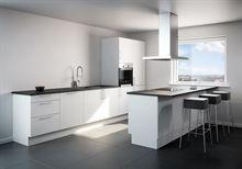Komplet køkken inklusiv kogeø og vask, med valgfri laminatbordplade i flere forskellige dessin til KUN 18.995
