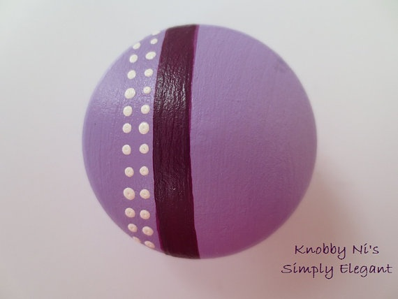Pink and Purple Drawer Knobs  Polka Dots  Nursery by KnobbyNis, $4.50