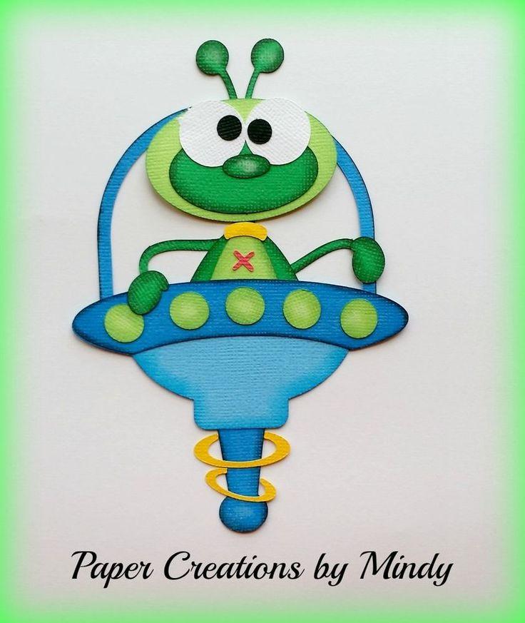 Craftecafe Mindy space boy girl premade paper piecing scrapbook page album