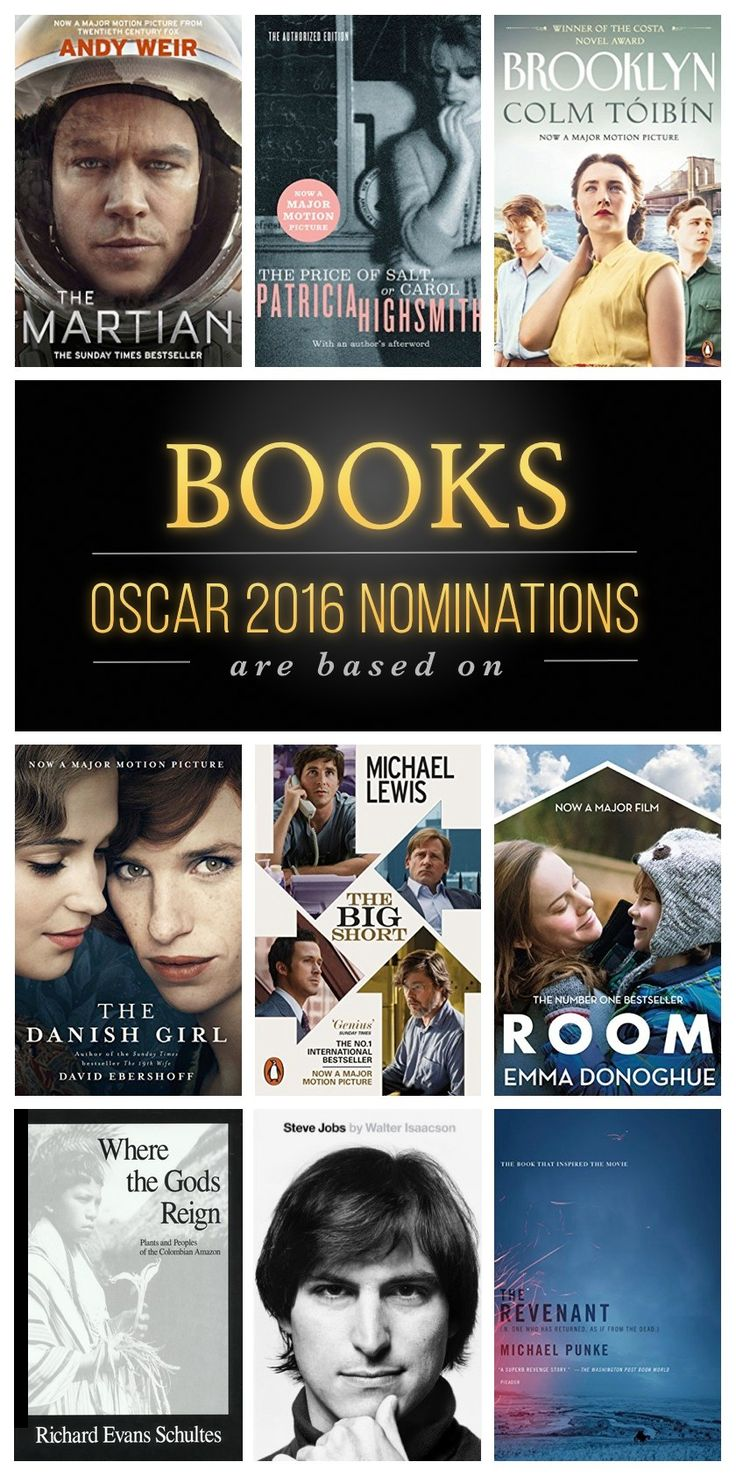 Here is a list of nine Oscar 2016 nominations that are based on books or inspired by books.