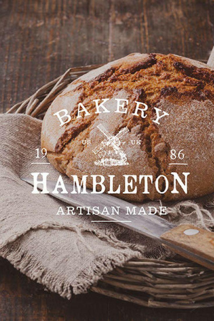 Logo design, branding for a artisan bakery 'Hambleton bakery'.