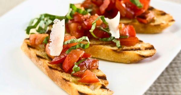 Une entrée tomatée : bruschetta maison « Maigrir Sans Faim