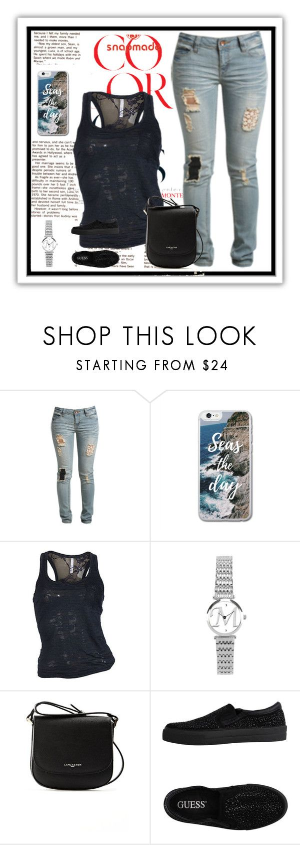 """Snapmade 2/10"" by sanela1209 ❤ liked on Polyvore featuring Wet Seal, Lancaster and GUESS"