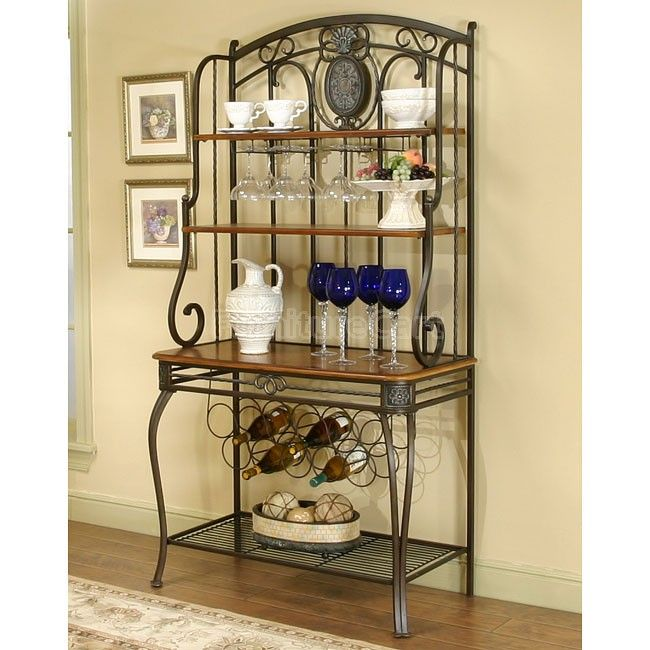 9 best Bakers Rack Decor images on Pinterest | Wrought iron, Bakers ...